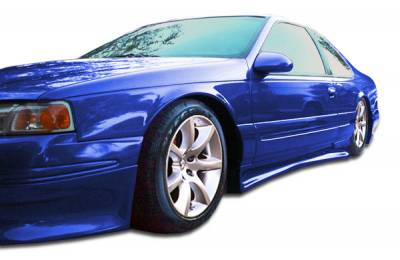 Cougar - Side Skirts - Extreme Dimensions - Mercury Cougar Duraflex Racer Side Skirts Rocker Panels - 2 Piece - 104376