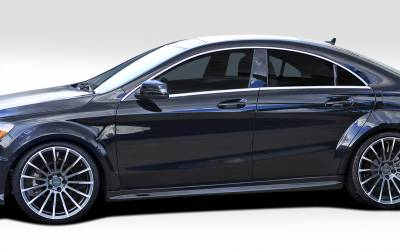 CLA - Side Skirts - Extreme Dimensions 16 - Mercedes-Benz CLA Duraflex Black Series Look Wide Body Side Skirt Rocker Panels -2 Piece - 112012