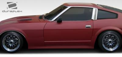 240Z - Side Skirts - Extreme Dimensions 16 - Nissan 240Z Duraflex MS-R Side Skirts Rocker Panels - 2 Piece - 108119