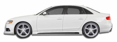 A4 - Side Skirts - Extreme Dimensions 16 - Audi A4 Extreme Dimensions R-1 Side Skirts Rocker Panels - 2 Piece - 107420
