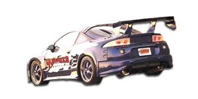 Eclipse - Rear Add On - Extreme Dimensions - Mitsubishi Eclipse Duraflex Q Flared Rear Add On Bumper Extensions - 2 Piece - 101609