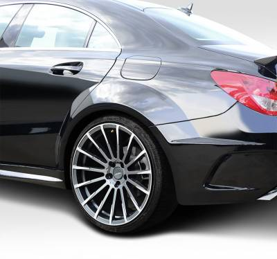 CLA - Fenders - Extreme Dimensions - Mercedes-Benz CLA Duraflex Black Series Look Wide Body Rear Fenders - 4 Piece - 112015