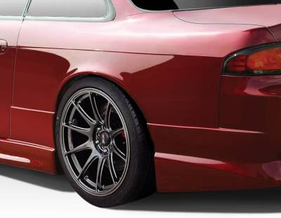 240SX - Fenders - Extreme Dimensions 16 - Nissan 240SX Duraflex C-Speed 50mm Rear Fenders - 2 Piece - 109519