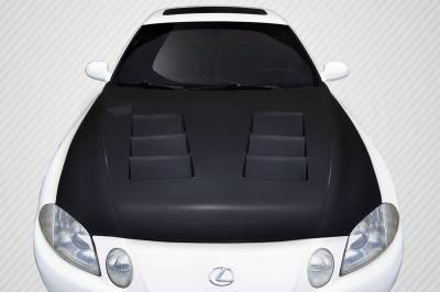 SC - Hoods - Carbon Creations - Lexus SC Carbon Creations TS-1 Hood - 1 Piece - 109493