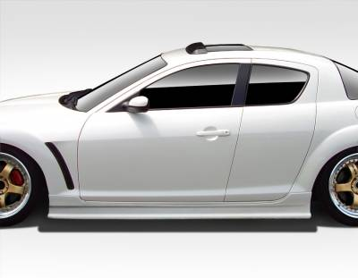 RX8 - Side Skirts - Extreme Dimensions 16 - Mazda RX-8 Duraflex Type F Side Skirt Rocker Panels - 2 Piece - 109485