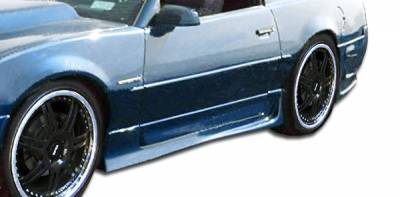 Firebird - Side Skirts - Extreme Dimensions - Pontiac Firebird Duraflex Xtreme Side Skirts Rocker Panels - 4 Piece - 103706