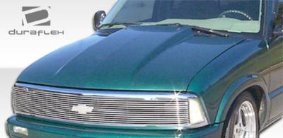 S10 - Hoods - Extreme Dimensions - Chevrolet S10 Duraflex Cowl Hood - 1 Piece - 103017