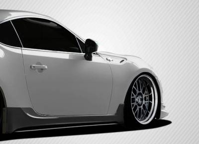 BRZ - Side Skirts - Extreme Dimensions - Subaru BRZ Carbon Creations TD3000 Side Skirts Rocker Panels - 2 Piece - 108543
