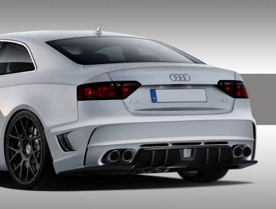 A5 - Rear Bumper - Extreme Dimensions 16 - Audi A5 Duraflex Eros Version 1 Rear Bumper Cover - 1 Piece - 109347