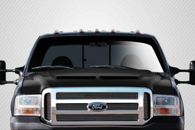 Excursion - Hoods - Extreme Dimensions 16 - Ford Excursion Carbon Creations CV-X Hood - 1 Piece - 112328