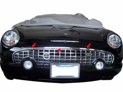 QAA - FORD THUNDERBIRD 2dr QAA Stainless 1pcs Grille Accent SG43670 - Image 1