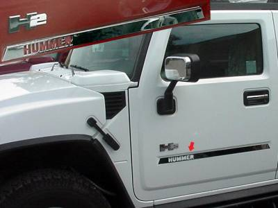 HV43008 For HUMMER H2 2003-2009 6PC Stainless Steel Front Bumper Trim