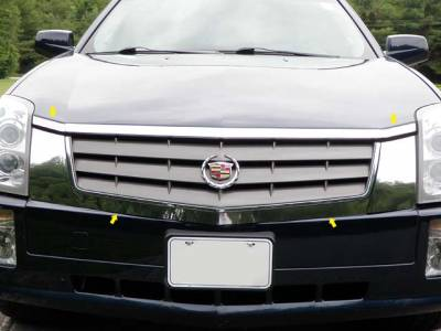 QAA - CADILLAC SRX 4dr QAA Stainless 4pcs Grille Accent SG44260 - Image 1