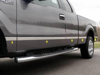 QAA FITS F-150 2015-2019 /& F-250//F-350 Super Duty 2017-2019 Ford DH55310 12 Pc: ABS Plastic Door Handle Covers w//Surround Trim, NO Pass Key Access, 4-Door