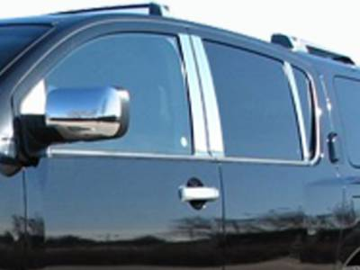 QAA FITS Armada 2004-2008 Nissan 1 Pc: Stainless Steel Fuel//Gas Door Cover Accent Trim, 4-Door, SUV GC24523