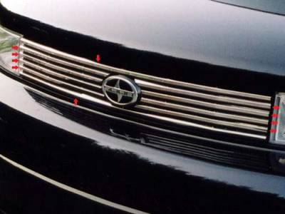 QAA - SCION xB 4dr QAA Stainless 10pcs Grille Accent SG24180 - Image 1