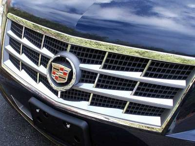 QAA - CADILLAC STS 4dr QAA Stainless 6pcs Grille Accent SG45236 - Image 1
