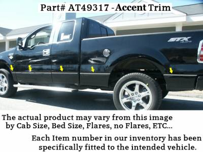 12 Pc: ABS Plastic Door Handle Cover Kit NO Pass Key Access, w// 2 Smart Key Access Points, Includes Surround, 4-Door QAA FITS F-150 2015-2019 /& F-250//F-350 Super Duty 2017-2019 Ford DH55309