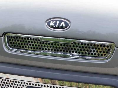 QAA - KIA SOUL 4dr QAA Stainless 1pcs Grille Accent SG10830 - Image 1