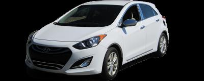 QAA - Fits Hyundai ELANTRA 4dr QAA Stainless 2pcs Grille Accent SG13345 - Image 2