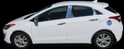 QAA - Fits Hyundai ELANTRA 4dr QAA Stainless 2pcs Grille Accent SG13345 - Image 3