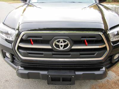 QAA - TOYOTA TACOMA 2/4dr QAA Stainless 2pcs Grille Accent SG16175 - Image 1